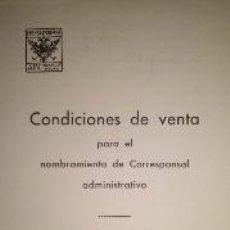 Coleccionismo de Los Domingos de ABC: NOMBRAMIENTO DE CORRESPONSAL ADMINISTRATIVO DEL PERIODICO ABC 1939. Lote 39346262