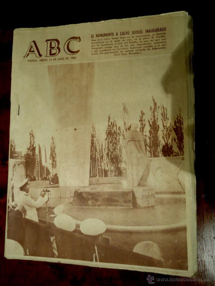 PERIODICO ABC JULIO 1960 (Coleccionismo - Revistas y Periódicos Modernos (a partir de 1.940) - Los Domingos de ABC)