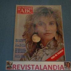 Coleccionismo de Los Domingos de ABC: :LOS DOMINGOS DE ABC,ESPARTACO,MUNDIALES NATACION,FRANCO,10-8-86. Lote 39764156