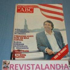 Coleccionismo de Los Domingos de ABC: :LOS DOMINGOS DE ABC,JOSE LUIS PERALES,MARISA BERENSON,FRANCO,8-6-86. Lote 39764312
