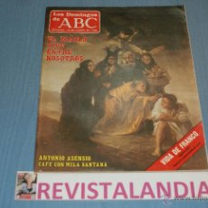 Coleccionismo de Los Domingos de ABC: :LOS DOMINGOS DE ABC,ANTONIO ASENSIO,LADI DI,FRANCO,16-3-86. Lote 39764455
