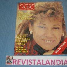 Coleccionismo de Los Domingos de ABC: :LOS DOMINGOS DE ABC,MILA SANTANA,MANUEL FRAGA,FELIPE GONZALEZ,,FRANCO,16-2-86. Lote 39764524