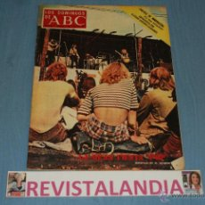 Coleccionismo de Los Domingos de ABC: :LOS DOMINGOS ABC,PAULOVA,CLAUDIO SANCHEZ,GRAN FIESTA POP,13-8-72. Lote 39875573