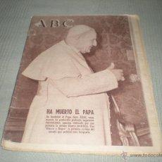 Coleccionismo de Los Domingos de ABC: ABC .HA MUERTO EL PAPA JUAN XXIII 4 JUNIO DE 1963 .. Lote 39886917