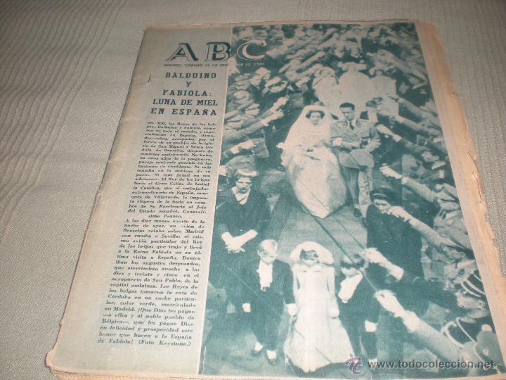 ABC 16 DICIEMBRE 1960 . BALDUINO Y FABIOLA LUNA DE MIEL EN ESPAÑA (Coleccionismo - Revistas y Periódicos Modernos (a partir de 1.940) - Los Domingos de ABC)