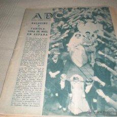 Coleccionismo de Los Domingos de ABC: ABC 16 DICIEMBRE 1960 . BALDUINO Y FABIOLA LUNA DE MIEL EN ESPAÑA . Lote 39916618