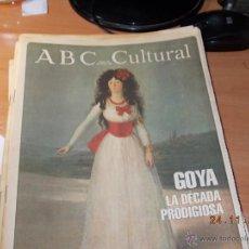 Coleccionismo de Los Domingos de ABC: ABC CULTURAL- GOYA-. Lote 40176431