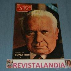 Coleccionismo de Los Domingos de ABC: REVISTA SEMANAL,LOS DOMINGOS DE ABC,GERALDINE CHAPLIN,LOPEZ IBOR,19-12-71. Lote 40289984