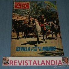 Coleccionismo de Los Domingos de ABC: REVISTA SEMANAL,LOS DOMINGOS DE ABC,AT.MADRID-BARCELONA,FERIA SEVILLA,18-4-71. Lote 40290327