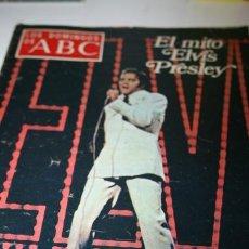Coleccionismo de Los Domingos de ABC: REVISTA LOS DOMINGOS ABC CON PORTADA ELVIS PRELEY. Lote 40643893