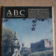 Colecionismo de Los Domingos de ABC: PERIÓDICO. ABC. MADRID, 5 DE SEPTIEMBRE DE 1965. JARDINES MADRILEÑOS DE HOY.. Lote 40805852