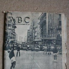 Coleccionismo de Los Domingos de ABC: PERIÓDICO. ABC. MADRID, 21 DE NOVIEMBRE DE 1971. TENIS EN UNA CALLE CÉNTRICA.. Lote 40805857