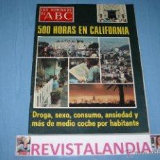Coleccionismo de Los Domingos de ABC: LOS DOMINGOS DE ABC,TONY FRANCISOSA,TICO MEDINA,CALIFORNIA. Lote 40861142