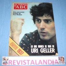 Coleccionismo de Los Domingos de ABC: LOS DOMINGOS DE ABC,NIKI LAUDA,IDI AMIN DAD,URI GELLER. Lote 40861373