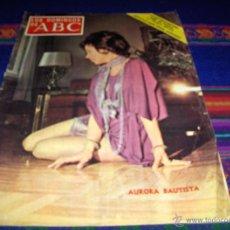 Coleccionismo de Los Domingos de ABC: LOS DOMINGOS DE ABC 30 JULIO 1972. AURORA BAUTISTA. BUEN ESTADO.. Lote 41019356