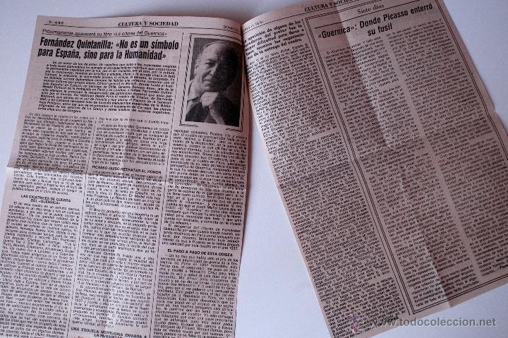 ARTICULO DE PRENSA ORIGINAL DE 1981. FERNANDEZ QUINTANILLA, ESCRITOR (Coleccionismo - Revistas y Periódicos Modernos (a partir de 1.940) - Los Domingos de ABC)