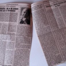 Coleccionismo de Los Domingos de ABC: ARTICULO DE PRENSA ORIGINAL DE 1981. FERNANDEZ QUINTANILLA, ESCRITOR . Lote 41104411