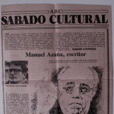 Coleccionismo de Los Domingos de ABC: ARTICULO DE PRENSA 1980. MANUEL AZAÑA, ESCRITOR . Lote 41111775