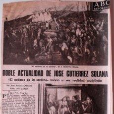 Coleccionismo de Los Domingos de ABC: ARTICULO DE PRENSA ORIGINAL 1980. DOBLE ACTUALIDAD DE JOSE GUTIERREZ SOLANA . Lote 41114994