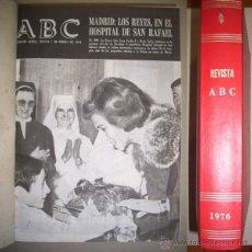 Collectionnisme de Los Domingos de ABC: ABC : EDICIÓN SEMANAL AÉREA DE INFORMACIÓN GENERAL. 1 DE ENERO A 30 DE DICIEMBRE DE 1976. Lote 41125918