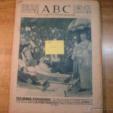 Coleccionismo de Los Domingos de ABC: DIARIO ABC DE SEVILLA, DE FECHA 2 DE SEPTIEMBRE DE 1955.- EN PORTADA: ENFERMOS PEREGRINOS, EN BARCEL. Lote 41293403