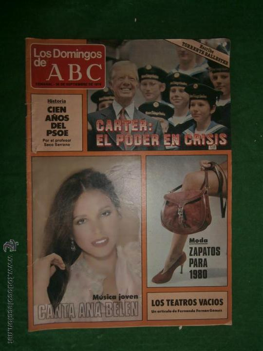 LOS DOMINGOS DE ABC 1979 ANA BELEN CARTER (Coleccionismo - Revistas y Periódicos Modernos (a partir de 1.940) - Los Domingos de ABC)