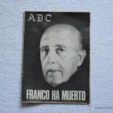 Coleccionismo de Los Domingos de ABC: EXTRA ABC FRANCO A MUERTO BIOGRAFIA DE FRANCO. Lote 42746877