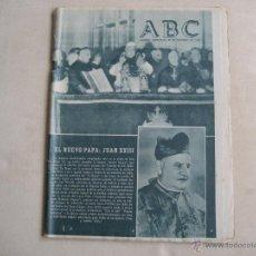 Coleccionismo de Los Domingos de ABC: ANTIGUO PERIODICO ABC. Lote 42801084