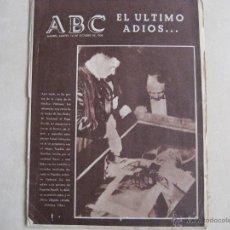 Coleccionismo de Los Domingos de ABC: ANTIGUO PERIODICO ABC. Lote 42801279