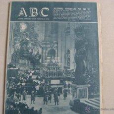Coleccionismo de Los Domingos de ABC: ANTIGUO PERIODICO ABC EL ULTIMO ADIOS A PIO XII. Lote 42801330