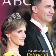 Coleccionismo de Los Domingos de ABC: ABC ESPECIAL PROCLAMACIÓN DE FELIPE VI 19 DE JUNIO DE 2014. Lote 44716958