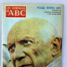 Coleccionismo de Los Domingos de ABC: SUPLEMENTO DOMINGOS ABC PABLO PICASSO 90 AÑOS 24 OCTUBRE 1971. Lote 44856529