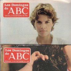 Coleccionismo de Los Domingos de ABC: LOS DOMINGOS DE ABC LOTE 7 EJEMPLARES , AÑO 1986. Lote 45447294