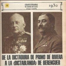 Coleccionismo de Los Domingos de ABC: 4244- FASCICULO COLECCIONABLE Nº 12- 70 AÑOS DE ABC. Lote 46313880
