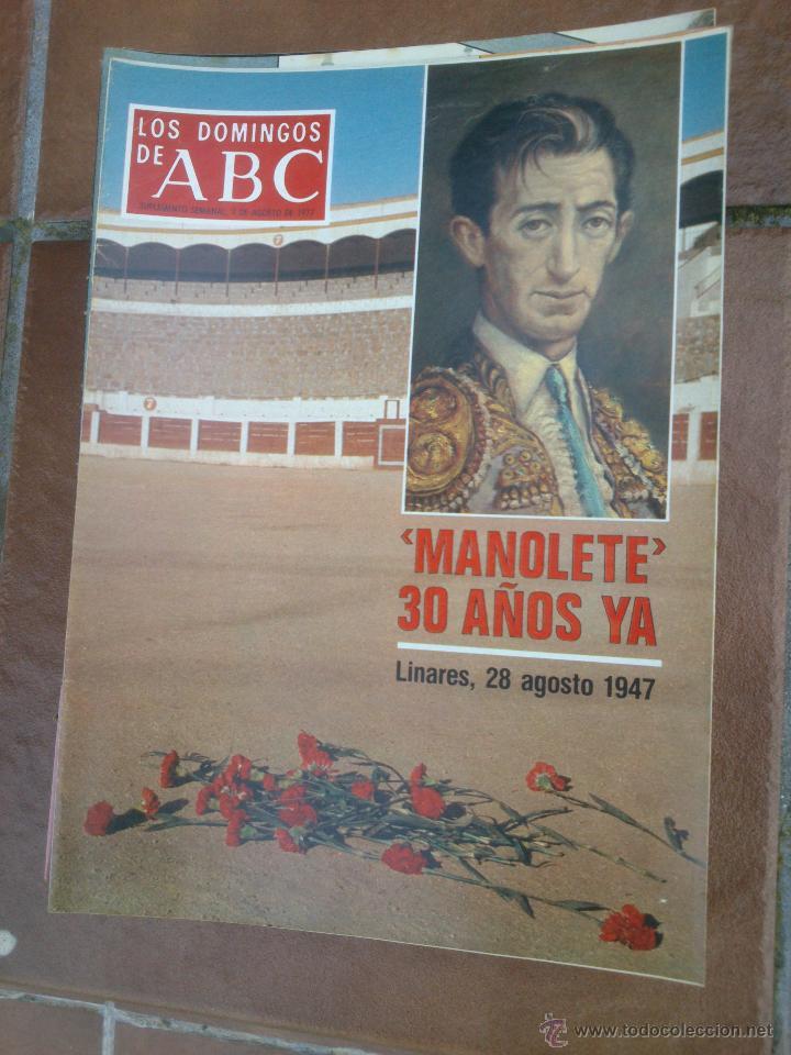 LOS DOMINGOS DE ABC.MANOLETE. (Coleccionismo - Revistas y Periódicos Modernos (a partir de 1.940) - Los Domingos de ABC)