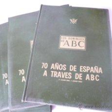 Coleccionismo de Los Domingos de ABC: 70 AÑOS DE ESPAÑA A TRAVES DE ABC, LOS DOMINGOS DE ABC . Lote 47601351