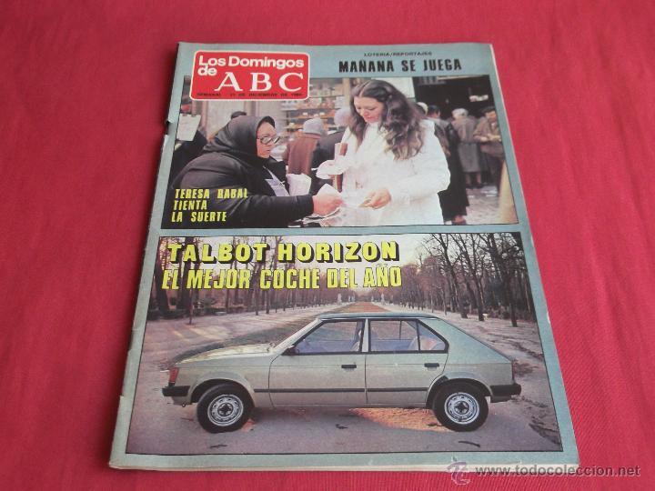 LOS DOMINGOS DE ABC,21 DE DICIEMBRE DE 1980 (Coleccionismo - Revistas y Periódicos Modernos (a partir de 1.940) - Los Domingos de ABC)