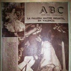 Coleccionismo de Los Domingos de ABC: PERIÓDICO ABC. 15 MARZO 1960. LA FALLERA MAYOR INFANTIL EN VALENCIA. Lote 48156398