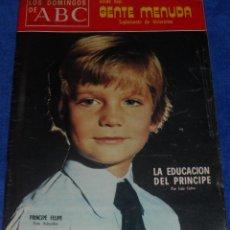 Coleccionismo de Los Domingos de ABC: LOS DOMINGOS DE ABC - LA EDUCACIÓN DEL PRÍNCIPE - POSTER CARLITOS / SNOOPY - (11 DE ENERO DE 1976). Lote 48843949