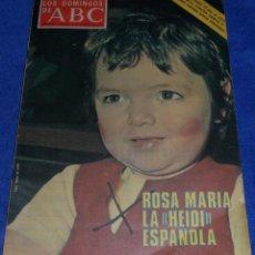 Coleccionismo de Los Domingos de ABC: LOS DOMINGOS DE ABC - LA HEIDI ESPAÑOLA - POSTER ATLÉTICO DE MADRID - (8 DE FEBRERO DE 1976). Lote 48844070