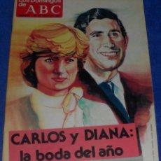 Coleccionismo de Los Domingos de ABC: LOS DOMINGOS DE ABC - CARLOS Y DIANA LA BODA DEL AÑO - (26 DE JULIO DE 1981). Lote 48844472