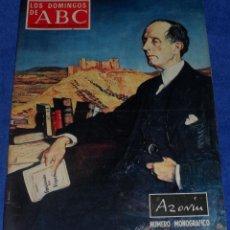 Coleccionismo de Los Domingos de ABC: LOS DOMINGOS DE ABC - AZORÍN - NÚMERO MONOGRÁFICO - (3 DE JUNIO DE 1973). Lote 48844552