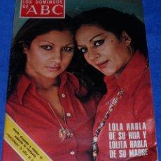 Coleccionismo de Los Domingos de ABC: LOS DOMINGOS DE ABC - LOLA FLORES Y LOLITA - (2 DE NOVIEMBRE DE 1975). Lote 48844671