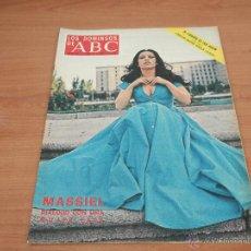Coleccionismo de Los Domingos de ABC: LOS DOMINGOS DE ABC,MASSIEL AÑO 1974. Lote 49044422