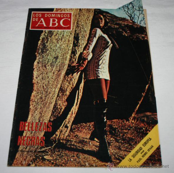 LOS DOMINGOS DE ABC 25 ABRIL 1971, POMPIDOUT, TERESA DEL RIO, JULIAN CORTES CABANILLAS, GITANOS (Coleccionismo - Revistas y Periódicos Modernos (a partir de 1.940) - Los Domingos de ABC)