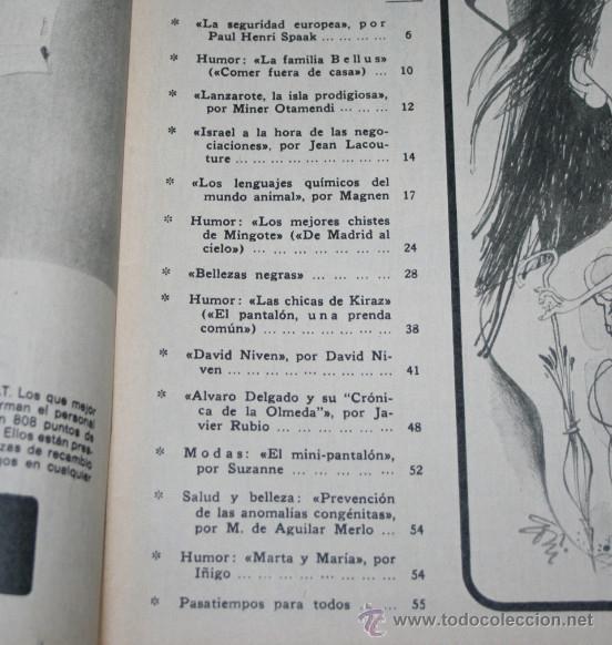 Coleccionismo de Los Domingos de ABC: LOS DOMINGOS DE ABC 25 ABRIL 1971, POMPIDOUT, TERESA DEL RIO, JULIAN CORTES CABANILLAS, GITANOS - Foto 2 - 51031769