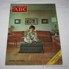 Coleccionismo de Los Domingos de ABC: LOS DOMINGOS DE ABC 8 MARZO 1970, AURORA BAUTISTA, MAGICO DALI, LA MINIFALDA, URTAIN, PACO RABAL. Lote 51032627