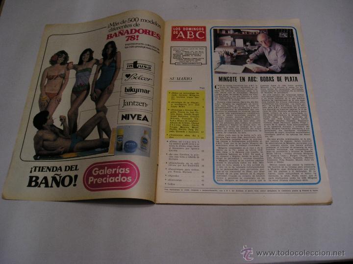Coleccionismo de Los Domingos de ABC: los domingos de abc 1978 Antonio Mingote 25 años en abc amplio reportaje 18 paginas ver fotos - Foto 2 - 52472575
