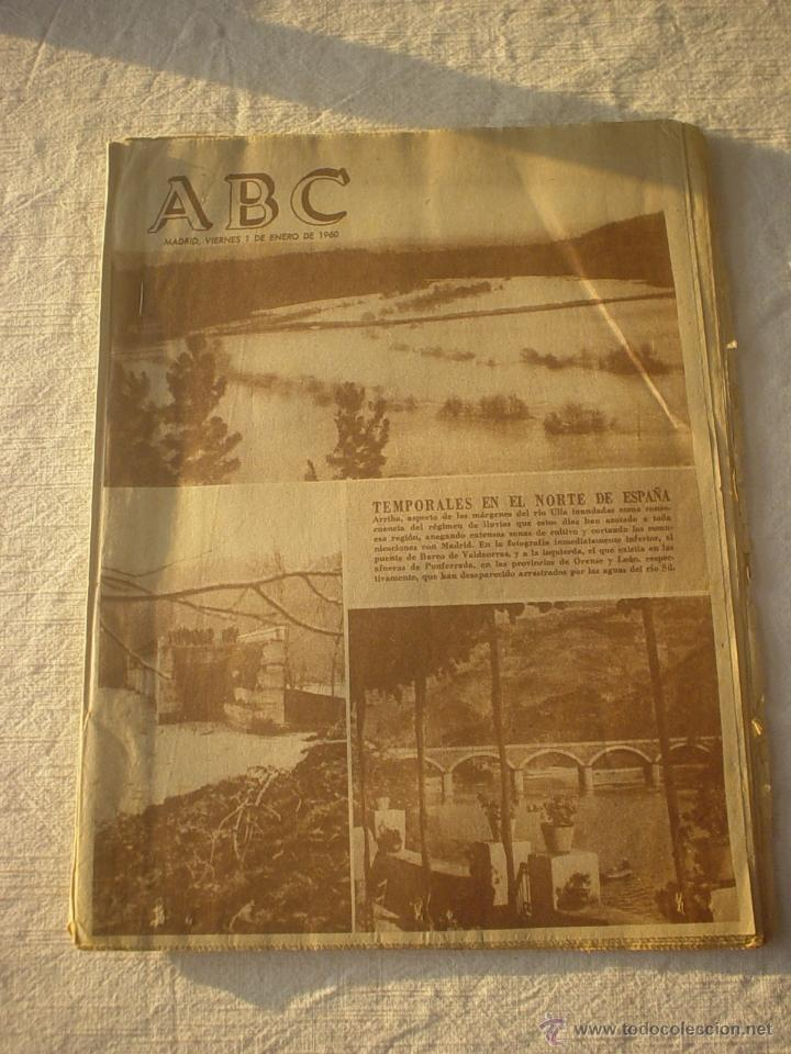 PERIODICO ABC 1 ENERO 1960 - ANUNCIO FAMOSA Y GEYPER (Coleccionismo - Revistas y Periódicos Modernos (a partir de 1.940) - Los Domingos de ABC)