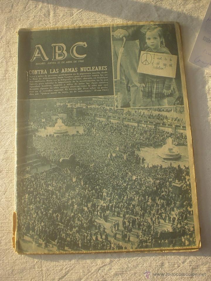 PERIODICO ABC 21 ABRIL 1960 (Coleccionismo - Revistas y Periódicos Modernos (a partir de 1.940) - Los Domingos de ABC)